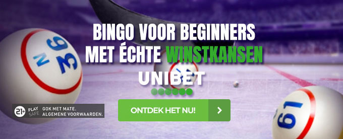 Ervaar bingo online in Center Court van Unibet