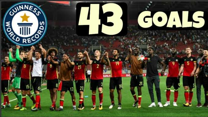 The RECORD-BREAKING 43 Goals scored in World Cup Qualifications by Belgium