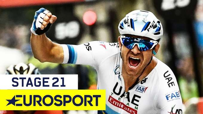 Alexander Kristoff Claims Victory at Champs-Elysees | Tour de France 2018 | Stage 21 Finish