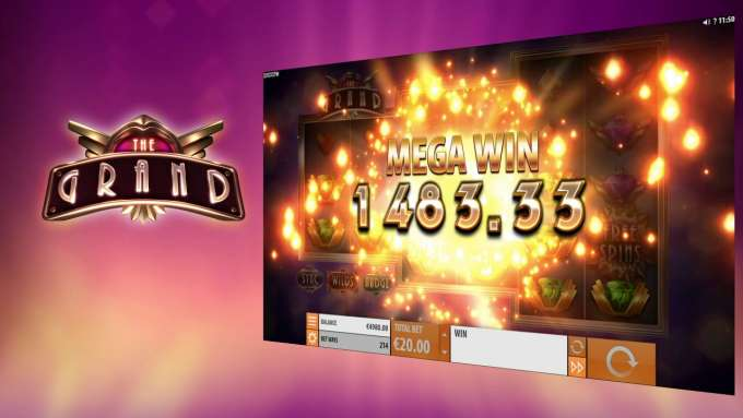 Quickspin slot - The Grand - BIG WIN - Feature explanation